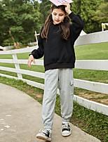 cheap -Kids Girls' Basic Solid Colored Long Sleeve Regular Regular Clothing Set Black