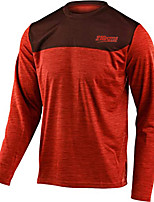 cheap -21Grams Men's Long Sleeve Downhill Jersey Black Red Dark Gray Novelty Bike Top Mountain Bike MTB Road Bike Cycling Breathable Quick Dry Sports Clothing Apparel / Stretchy