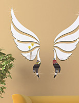 cheap -Angel Wings Shapes / Fairies Wall Stickers Mirror Wall Stickers Decorative Wall Stickers, Acrylic Home Decoration Wall Decal Wall Decoration 1pc