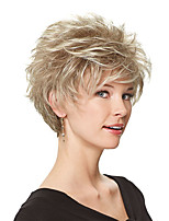 cheap -Synthetic Wig Curly Bob Wig Medium Length Brown Blonde Synthetic Hair Women's Fashionable Design Exquisite Fluffy Blonde Brown