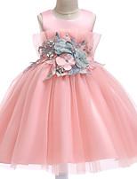 cheap -Princess Dress Party Costume Flower Girl Dress Girls' Movie Cosplay Princess Light Purple / Pink / Beige Dress Children's Day Masquerade Polyester