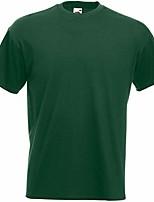 cheap -mens super premium short sleeve crew neck t-shirt (xl) (bottle green)