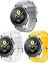 cheap -Watch Band for Samsung Galaxy Watch 46mm / Samsung Gear S3 / Galaxy Watch 3 45mm Samsung Galaxy Sport Band Silicone Wrist Strap