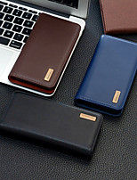 cheap -Case For Apple iPhone 12 / iPhone 12 Mini / iPhone 12 Pro Max Wallet / Shockproof / Flip Full Body Cases Solid Colored PU Leather