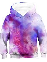 cheap -Kids Boys' Active Basic 3D Drawstring Long Sleeve Hoodie & Sweatshirt Purple