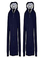 cheap -2pk sherpa lined fleece heavy weight hoodies, 2 navy, xx-large