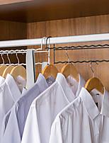 cheap -Wrought Iron Double-layer Hanger Finishing Storage Rack Home Wardrobe Space-saving Artifact Dislocation
