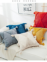 cheap -Hand-embroidered Tufted Pillowcase American Solid Color Moroccan Geometric Tassel Cushion Pillow
