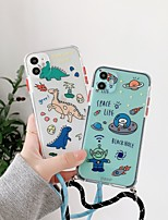 cheap -Case For iPhone 11 Transparent Pattern Back Cover Word Phrase Cartoon Silicone Case For iPhone 11 Pro Max / SE2020 / XS Max / XR XS 7 / 8 7 / 8 plus