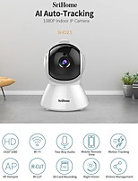 cheap -Sricam SH025 AI Body Auto-tracking IP Camera Mini 1080P Wifi CCTV Camera 2.0MP H.265 Smart Home Indoor Remote View Baby Monitor