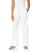 cheap -women's stretch linen pant with drawstring  white xx small