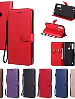 cheap -Case For Motorola MOTO E6S (2020) MOTO E6 plus MOTO G8PLAY Wallet Card Holder with Stand Full Body Cases Solid Colored PU Leather TPU for Moto G8 Power Lite Moto G Power Moto E7