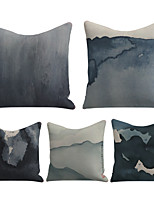 cheap -Cushion Cover 5PC Linen Soft Decorative Square Throw Pillow Cover Cushion Case Pillowcase for Sofa Bedroom 45 x 45 cm (18 x 18 Inch) Superior Quality Mashine Washable