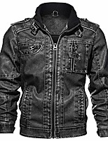 cheap -jacket for men vintage stylists rodeo pu leather jacket pu leather coat autumn slim fit faux for man male elegant cool black jacket leather for winter