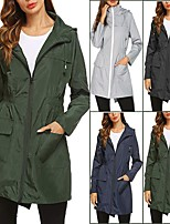 cheap -rain jacket women waterproof lightweight hooded raincoat active outdoor windbreaker trench coat s-xxl (xl, b_black_1)