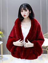 cheap -Sleeveless Coats / Jackets / Scarves Fauxfur Party / Evening / Birthday Shawl & Wrap / Women's Wrap / Women's Scarves With Fringe