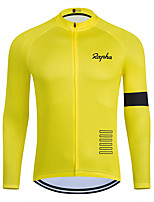 cheap -WECYCLE Men's Women's Long Sleeve Cycling Jersey Winter Yellow Solid Color Bike Top Mountain Bike MTB Road Bike Cycling Breathable Sports Clothing Apparel / Stretchy / Athletic