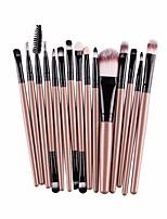 cheap -15 pcs/sets makeup brush set tool,cosmetic makeup brush brushes set foundation powder eyebrow eyeshadow toiletry kit (gold)
