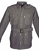 cheap -tag safari jacket for men, lightweight, multi pockets, perfect for explorers, photographers and journalists