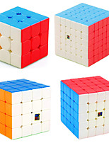 cheap -Speed Cube Set 4 pcs Magic Cube IQ Cube MoYu 3*3*3 4*4*4 5*5*5 Speedcubing Bundle Stress Reliever Puzzle Cube Stickerless Smooth Office Desk Toys Kid's Adults Toy Gift