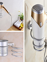 cheap -Contemporary Bathroom Hair Dryer Aluminum - Wall Mounted for Home and Hotel Bathroom