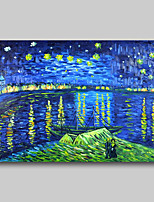 cheap -Oil Painting Hand Painted Van Gogh Abstract Abstract Landscape Comtemporary Modern Stretched Canvas