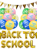 cheap -Party Balloons 26 pcs Back To School Happy Birthday Party Supplies Latex Balloons Banner Boys and Girls Party Decoration 12 Inch for Party Favors Supplies or Home Decoration