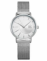 cheap -simple watches analog mesh watches for women stainless steel band reloj de mujer