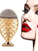 cheap -cosmetic brush, fish scale fishtail bottom powder blush makeup brush (rose gold)