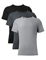 cheap -men's 3 pack soft comfy bamboo rayon undershirts breathable crew neck tees short sleeve t-shirts (xl, heather gray)