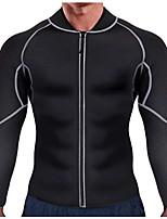 cheap -Body Shaper Sweat Waist Trainer Jacket Shapewear Sports Chinlon Nylon Neoprene Yoga Gym Workout Pilates Stretchy Weight Loss Tummy Fat Burner Hot Sweat For Men Women