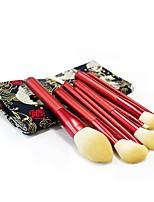 cheap -12 Pcs Makeup Brushes Red Set Bionic Wool Makeup Brush Beauty Tool Foundation Blush Eye Shadow Nose Brush Contour Concealer