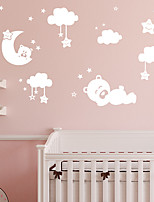cheap -Bear Star Moon Cloud Animals Wall Stickers Plane Wall Stickers / Animal Wall Stickers Decorative Wall Stickers PVC Home Decoration Wall Decal Wall Decoration 1pc