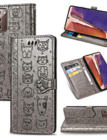 cheap -Case For Samsung Galaxy Note 20 Note 20Ultra 10Lite 9 8 S20 S20Plus s10Lite S9 S8Plus Case Flip Wallet Magnetic Stand Leather Phone Bag Case For Samsung Galaxy A21S A91 A71 A51 Luxury Case Coque Cover