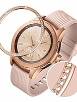 cheap -stainless steel bezel ring compatiable galaxy watch 42mm/gear sport,sparkling 72 crystal diamond bezel cover adhesive anti scratch & collision protector for galaxy watch accessory - rose gold