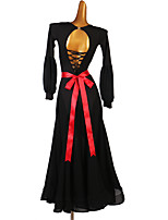 cheap -Ballroom Dance Dress Split Joint Women's Training Long Sleeve High Milk Fiber