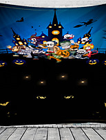 cheap -Classic Theme / Halloween Wall Decor 100% Polyester Classic / Psychedelic Wall Art, 150*100 cm Decoration