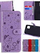 cheap -Case For Samsung Galaxy Galaxy S20 FE 5G / S9 / S9 Plus Wallet / Card Holder / with Stand Full Body Cases Solid Colored / Animal PU Leather / TPU