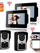 cheap -Tuya Smartlife 1080P HD Camera DoorBell 7inch Monitor Video door bell Visual Intercom Rainproof Door Camera PIR Motion Detectore Snapshot