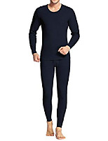 cheap -mens thermal wicking microfiber thermal underwear long johns thermal set red s