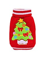 cheap -christmas pet sweaters winter warm knitted sweater,red-l