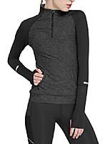 cheap -women running shirts yoga compression sweatshirts dark grey m