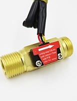 cheap -Water Fuel Flow Meter Sensor Counter Hall Flowmeter Pool Float Switch for Water Heater with Brass Vlaue DN15 G1/2 1-25L/min