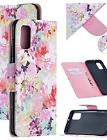 cheap -Case For Samsung Galaxy A21S Wallet  Card Holder  with Stand Full Body Cases Flower PU Leather Galaxy Note 20 Ultra S20 Plus A01 A11 M11 A21 A31 A41 A51 A71 5G Note 10 M31S