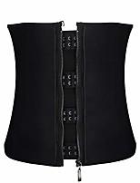 cheap -womens steel boned waist trainer belt with zipper and hooks for weight loss xs - 6xl (black, 3xl)