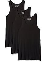 cheap -men's undershirts multipack cotton classics a-shirts, black (3 pack), xx-large
