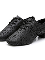 cheap -Men's Dance Shoes Latin Shoes / Jazz Shoes / Modern Shoes Oxford Heel Bows Thick Heel Customizable Black / Ballroom Shoes / Practice
