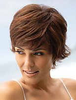 cheap -Synthetic Wig Curly Pixie Cut Wig Short Light Brown Brown Synthetic Hair Women's Fashionable Design Exquisite Fluffy Brown