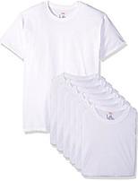 cheap -men's freshiq comfortsoft crewneck undershirt 6-pack, white, x-large