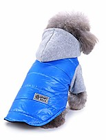 cheap -puppy spring outerwear two-legged coat pet dog clothes hooded cotton jacket pullover small doggie cat sport apparel (sky blue, s)